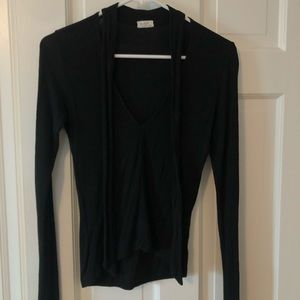 Brandy Melville Black Long Sleeve with Ties